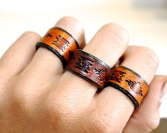 Aztec Band Ring