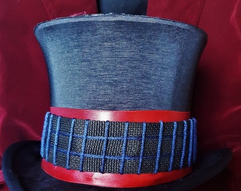 Willy Wonka Top Hat Replica Prop - Tim Burton's Charlie and the Chocolate Factory, Victorian Hat, Cosplay, Costume, Wedding