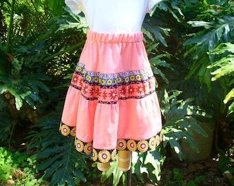 Ruffle flower skirt