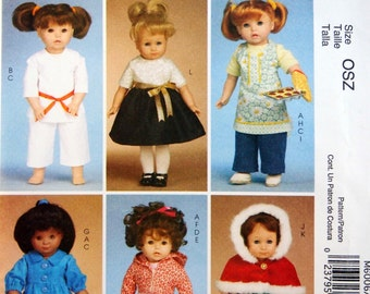 18 Inch Doll Clothes McCall's Crafts M6006 Uncut Sewing Pattern 2009