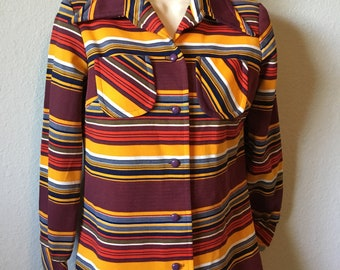 1970s polyester ladies top
