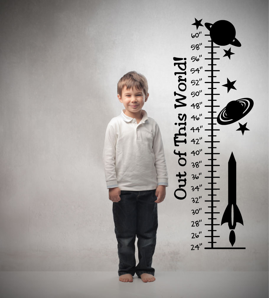 Space growth chart nursery wall decal wall vinyl vinyl zoom nvjuhfo Gallery