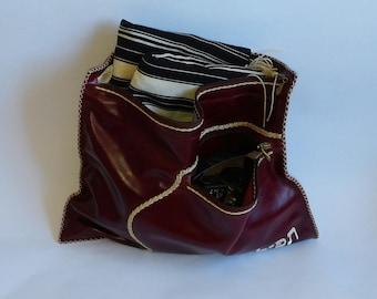 leather bag,tallit bag, tefillin bag,leather judaica,israel art
