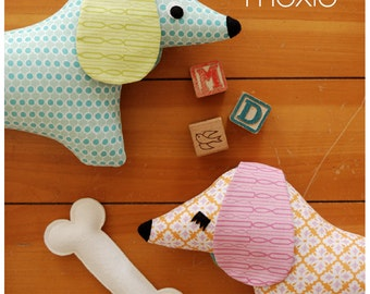 Stuffed Animal Pattern - PDF Sewing Pattern  - Doxie Softie - Dog Sewing Pattern Instant Download