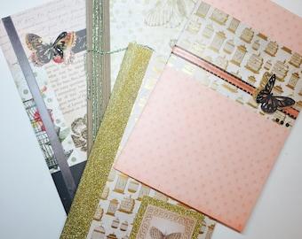 Butterflies Handmade Journals (Set of 4)