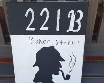Sherlock Silhouette Canvas Art