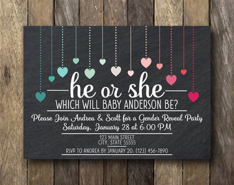 Gender Reveal Invite - Printable Gender Reveal Party Invitation