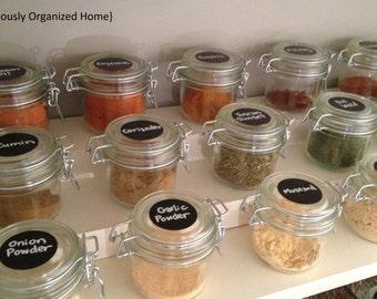 24 Circle Chalkboard Labels - 1.75 inch , Chalk Labels® Spice Jar Labels, Pantry Labels, Chalkboard Stickers