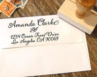 Custom Address Stamp, Calligraphy Stamp, Return Address Stamp, Personalized Address Stamp, Address Stamp, Personalized Stamp, Custom Gift