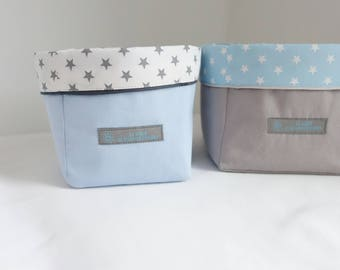 Set of 2 baskets graphic Collection blue