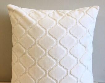 Cream Velvet Pillow Cover, Pillow Velvet, Designer Pillow , Velvet Pillows, Velvet  Throw Pillow Cushion Cover Pillow  Sofa Pillow Cover