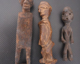 3 Antique African fetishes (3) Congo
