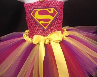 Super Woman Tutu Dress, Super Girl Tutu Costume, Super Hero Tutu Dress, Super Hero Costume Girls, Girls Hero Tutu Dress Tutu Dress Costume