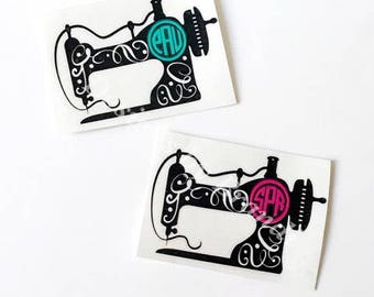 monogram sewing machine decal // sewing machine decal // quilting decal // sewing machine // seamstress // quilting