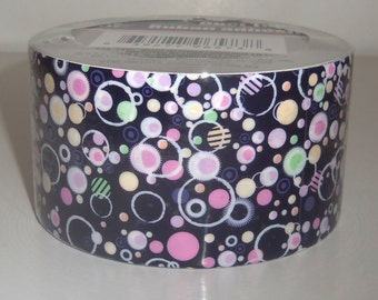Black Circles Bubbles Duct Tape 15 ft Roll DIY Art Project Paper Crafts Scrapbooking Crafting Supplies