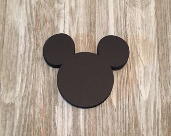 Mickey Mouse Birthday Cutouts Mickey Mouse Birthday Decorations Mickey Mouse Favor Tags Mickey Mouse Labels
