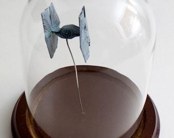 Origami starship Tie-Fighter small decorative globe