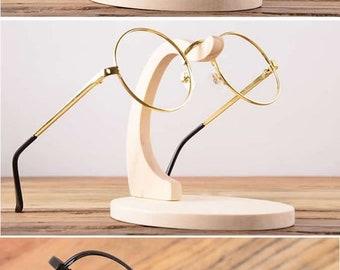 wooden Eyeglass, Sunglasses Display Stand Holder