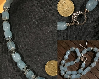 Necklace in Aquamarine