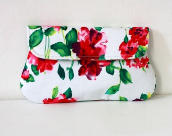 Pink Floral Clutch, spring summer wedding clutch, bridesmaid, clutch, bridesmaid gft