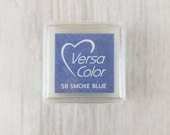 VersaColor Pigment Ink Pad Small in Smoke Blue - Blue Inkpad - Ink for stamp - Pale Blue - Versa Color - Colour Ink Pad - Light Blue