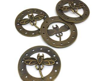 Pendant, dragonfly, 51 mm