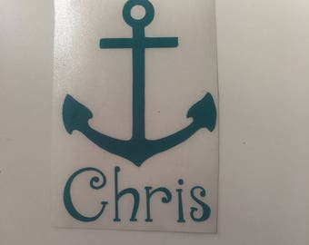Anchor Decal/ Anchor Name Decal/ Decal/ Iron On/ Sticker/ Tumblers/ Windows/ Lockers/ Clothing