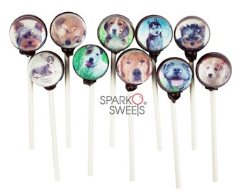 Cute Puppy and Dog Collection 3D Lollipops by Sparko Sweets  (10 Pieces Set)