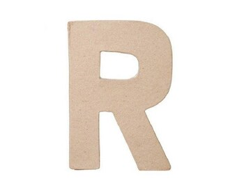 8 INCH Paper Mache Letter R - Cardboard Letters - Kids Paper Craft Party Decor Supplies