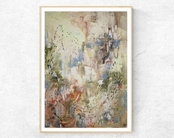 AFTER THE RAIN abstract painting fine art print