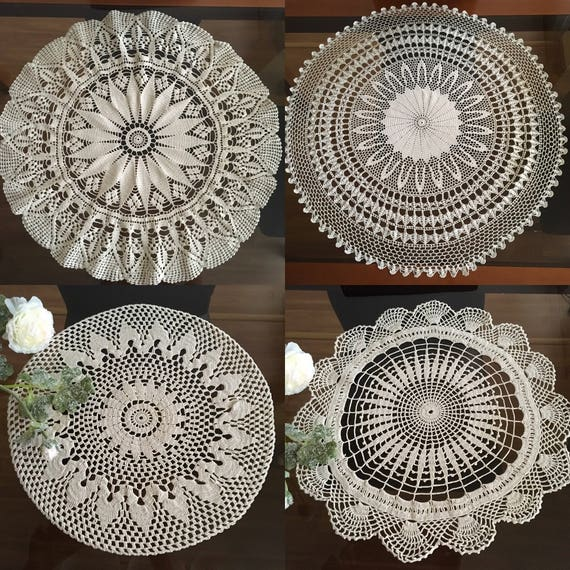 Large doily Round tablecloth crochet Handmade doilies Mothers Day Gift for Mom Table decor Tableware decor centerpiece Coffee table settings