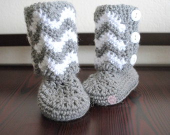 Chevron Baby Boots