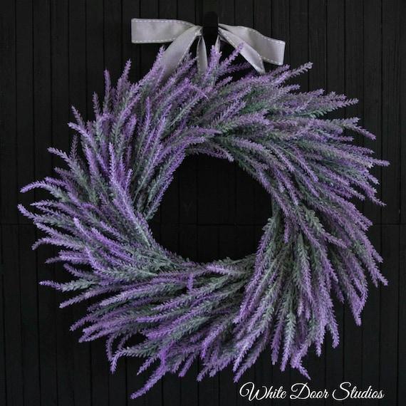 Artificial Lavender Spring Summer Front Door Wreath