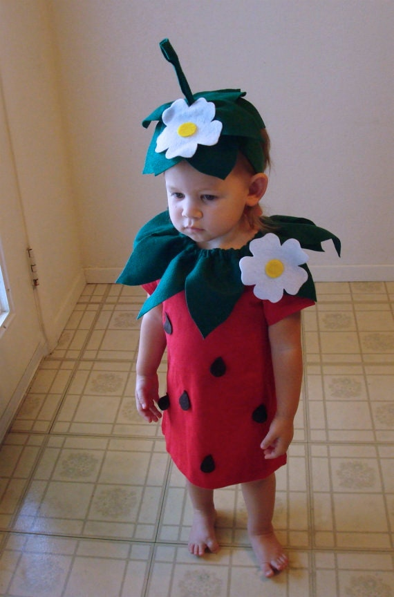 Kids diy strawberry do it yourself kids costume halloween like this item solutioingenieria Image collections