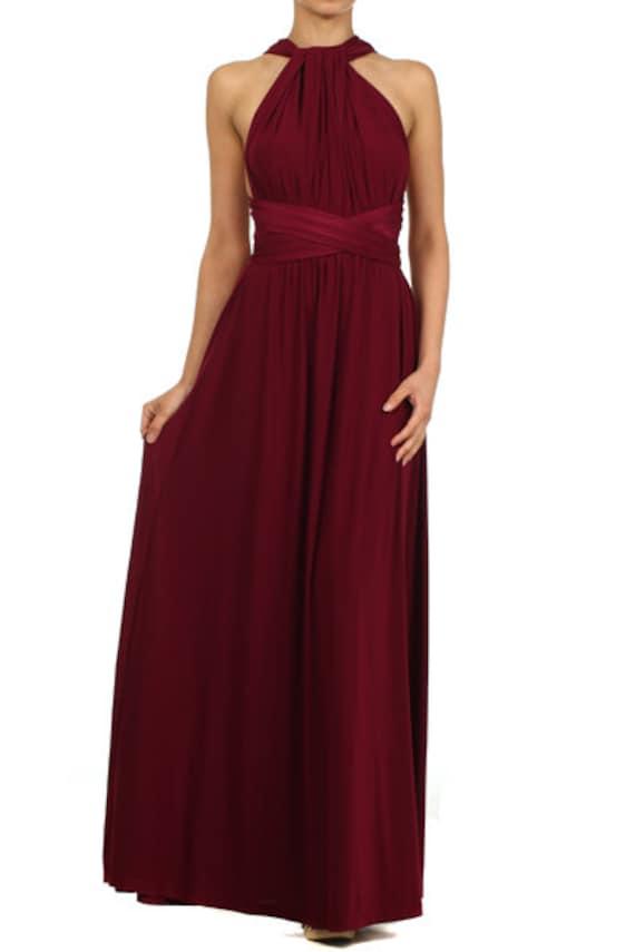 Wein benutzerdefinierte aus Infinity Kleid. Bodenlangen Cabrio