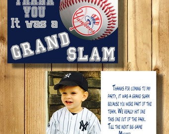 New York Yankees 4x6 Thank You Note Cards