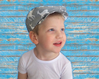 Child's Newsboy cap newborn newsboy hat, old fashioned boy's hat, Kid's scally cap, driver's cap, gray hat boy, animal hat cap, golf cap