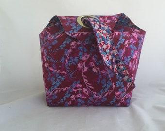 Knitting Tote, Dumpling Project Bag-Reversible