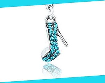 Cinderella Glass Slipper Charm, Disney Charm, Mickey Charm, Cinderella Shoe Charm, Rhinestone High Heel Charm, Disney Cinderella Charm