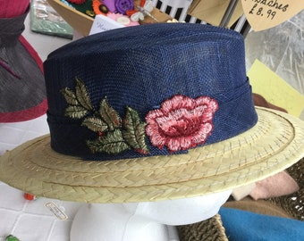 Sinemay straw boater