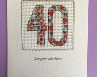 Cross Stitched Card