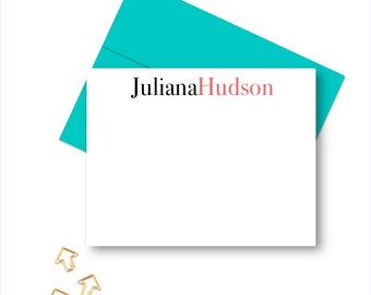 Personalized Stationery for women, Personalized Note Cards, Stationery for Men, Personalized Stationary sets, Custom Notecards