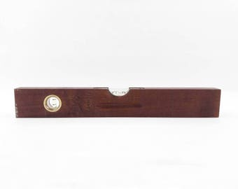 Mid Century Spirit Level Tool Made of Teak Wood