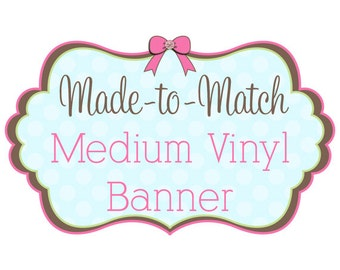 Medium Vinyl Banner for Craft Shows, Events and More