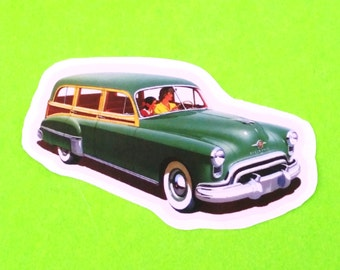 Oldsmobile 1946 Station Wagon Family Car Classic Vintage Series Automobile Vinyl Sticker