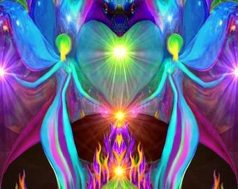 "Violet Flame, Soulmate Love, Spiritual Angel Meditation Tool ""Twin Flames"""