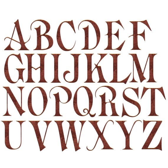 Alphabet clip art old english alphabet clipart old deep copper alphabet clip art old english alphabet clipart old deep copper metal alphabet letters and numbers printable clipart instant download from altavistaventures Choice Image