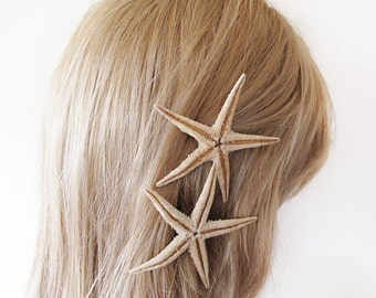 Starfish Pins, Starfish Hair Accessories,  Wedding Accessories, Mermaid Hair Accessories, Beach Hair Accessories, Natural