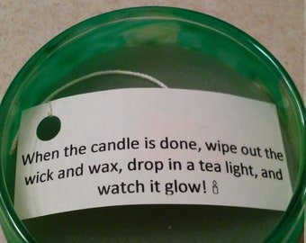 Green Glow Candle