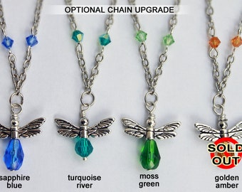 """Your choice - firefly pendant with 18"""" chain"""